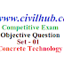 Concrete technology objective question | Answer | Pdf - 01