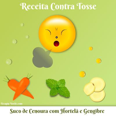 Receita Contra Tosse: Suco de Cenoura com Hortelã e Gengibre
