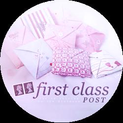 First Class Post Banner