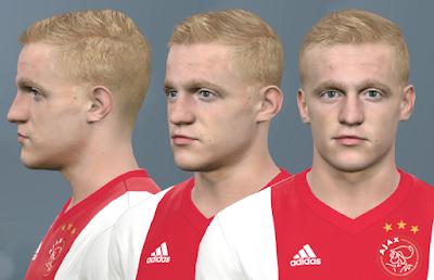 PES 2017 Faces Donny van de Beek by WER Facemaker