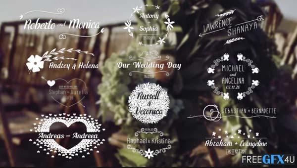 Wedding Titles Pack 4K