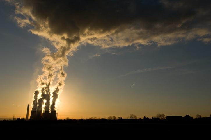 Power Plant Emits Smoke
