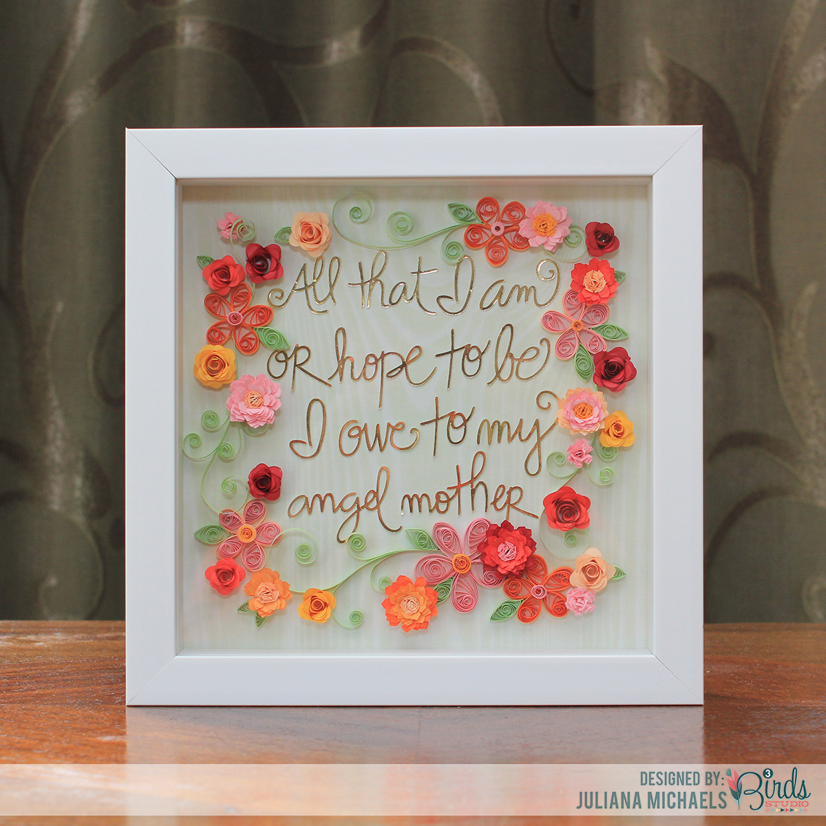 Mother's Day Gift Idea | Shadow Box Frame & Free Cut File