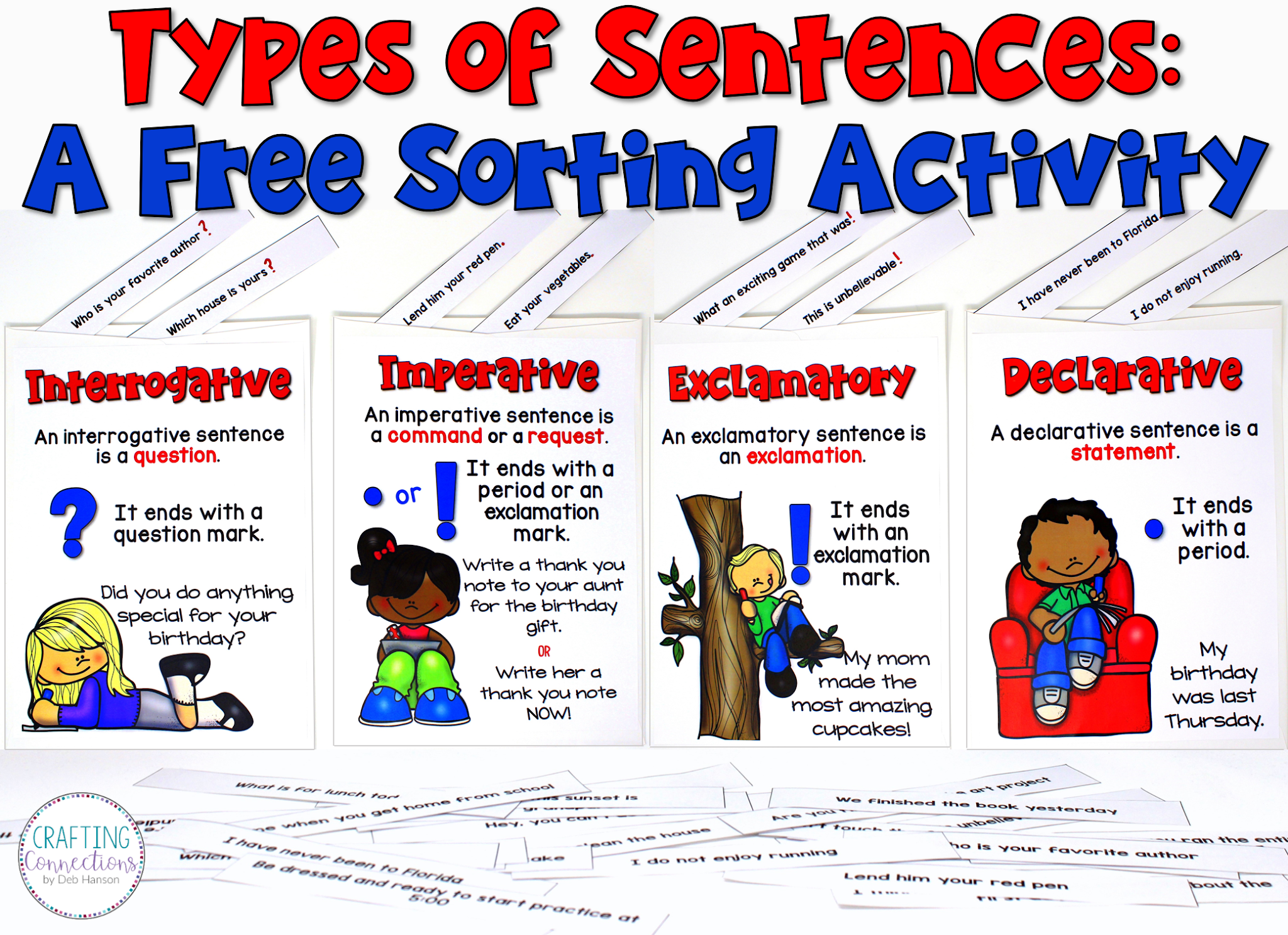 small resolution of Types of Sentences: A Free Sorting Activity   Crafting Connections