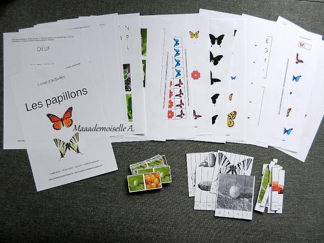 || Livret d'activités : Papillons