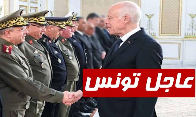 قيس سعيد في اجتماع طارئ بقيادات عسكرية وأمنية