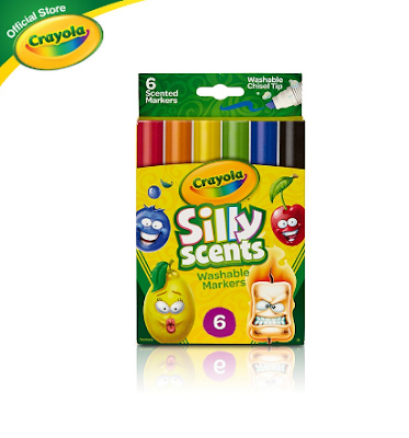 Crayola Silly Scents Chisel Tip Markers, 6 Colors