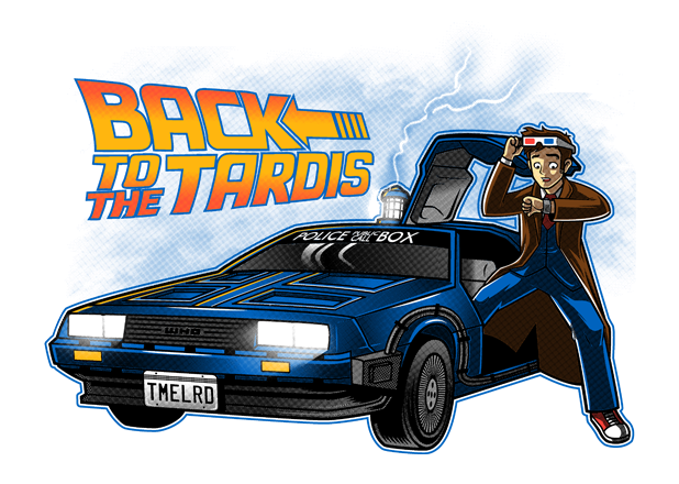 For One Day Only Back To The Future Tenth Doctor T Shirt On Sale Now