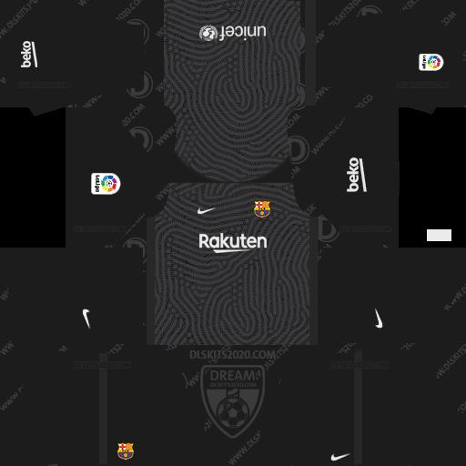 FC Barcelona Kits 2020-2021 Nike For Dream League Soccer 2019 (Away Goalkeeper)