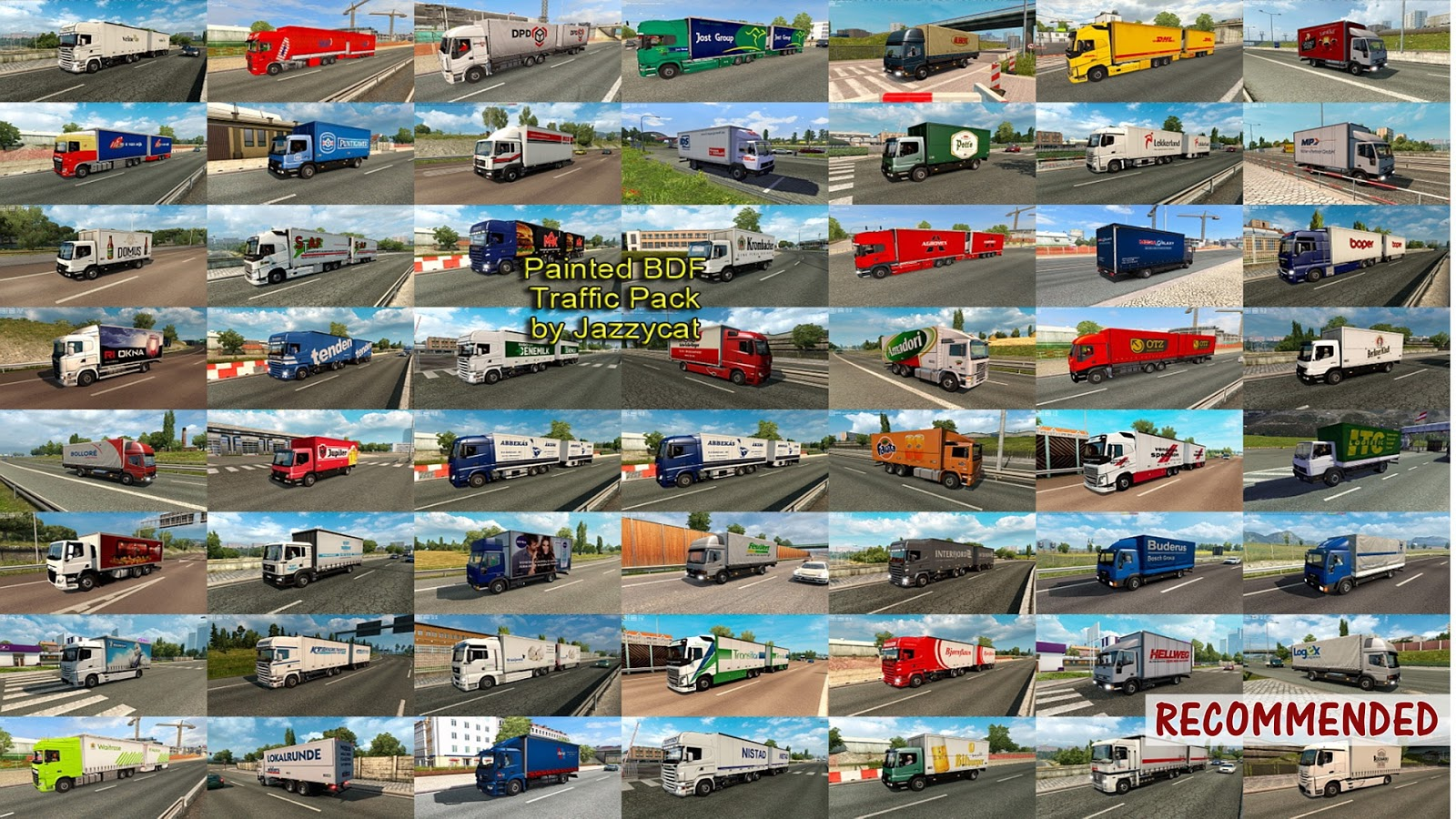 Sinagrit Baba's Workshop: ETS 2 - Painted BDF Traffic Pack