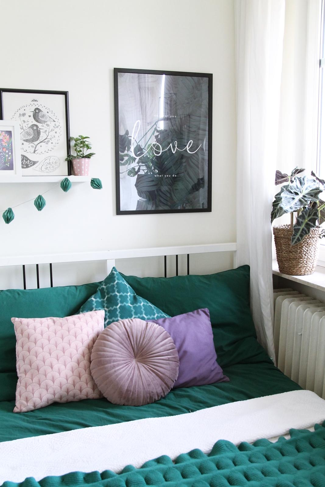 Green bedlinen