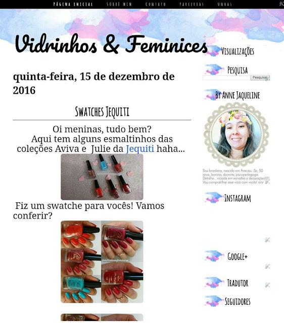 Template Vidrinhos e feminices