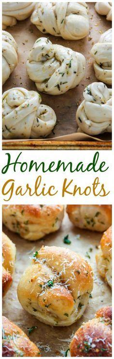Homemade garlic knots made with simple, everyday ingredients! Delicious on their own, or dipped in zesty marinara sauce.