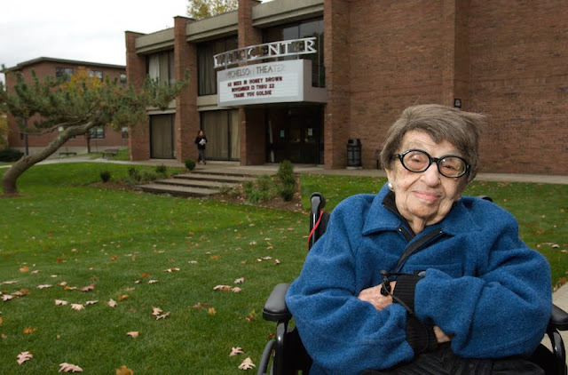 Goldie Michelson in 2008 (Clark University/JTA)