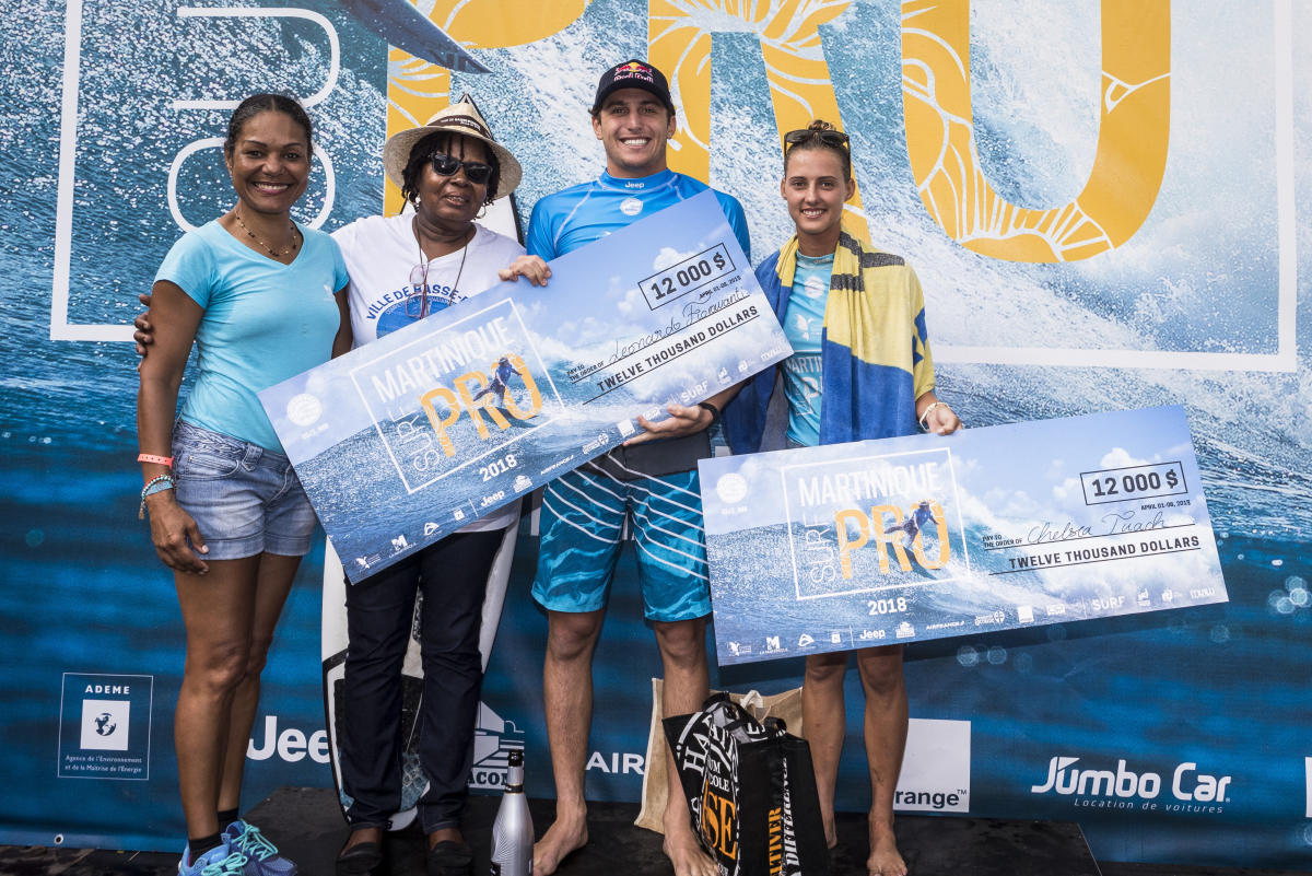 2018 Martinique Surf Pro Highlights Leo Fioravanti and Chelsea Tuach Victorious