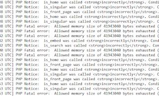 Cara Mengatasi Eror Allowed memory size of 41943040 bytes exhausted pada Wordpres