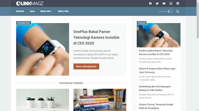 LinkMagz template responsive terbaru Mas Sugeng