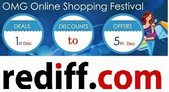 OMG Shopping Festival @ Rediff Shopping: Rs.100 Extra off on Cart Value of Rs.500 & above (Valid on All Products)