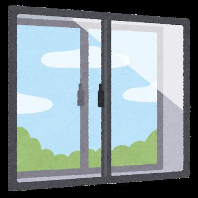二重窓のイラスト