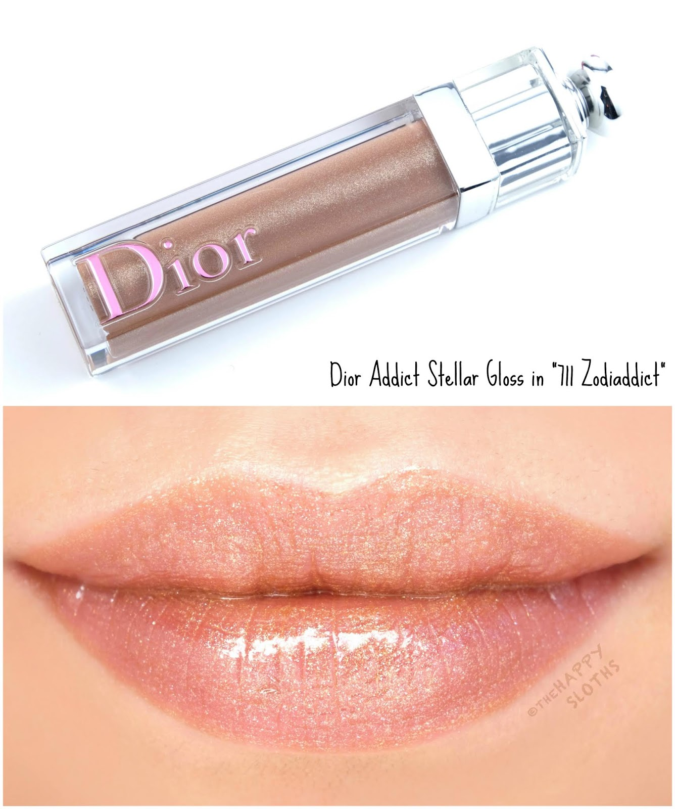 "Dior | Dior Addict Stellar Lip Gloss in ""711 Zodiaddict"": Review and Swatches"