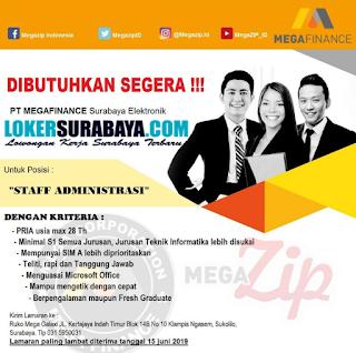 Dibutuhkan Segera di PT. Megafinance Surabaya Terbaru Juni 2019