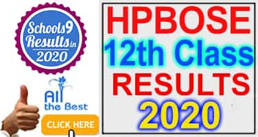 HPBOSE 12th Class Result 2020