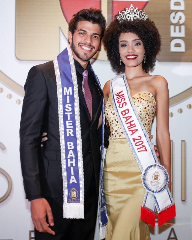 Gabriel Lemos e Adrielle Lima, Miss e Mister Bahia 2017. Foto:Luciano Macêdo