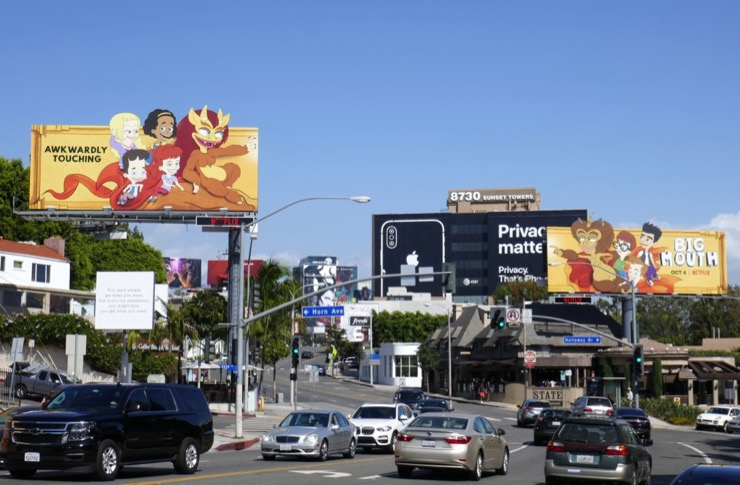 Big Mouth season 3 billboards Sunset Strip