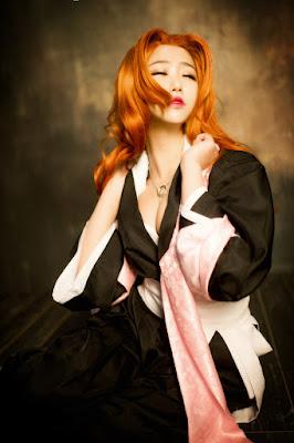 Rangiku Matsumoto (Bleach) foto wajah sange cosplay ini hampir diperkosa