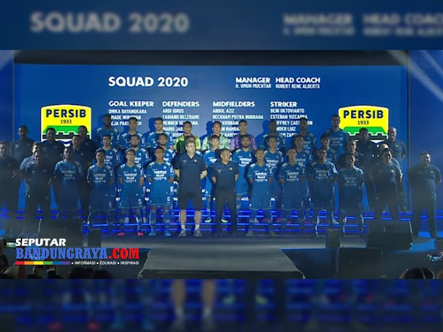 Nama dan Nomor Punggung Pemain Persib Bandung di Liga 1 Musim 2020