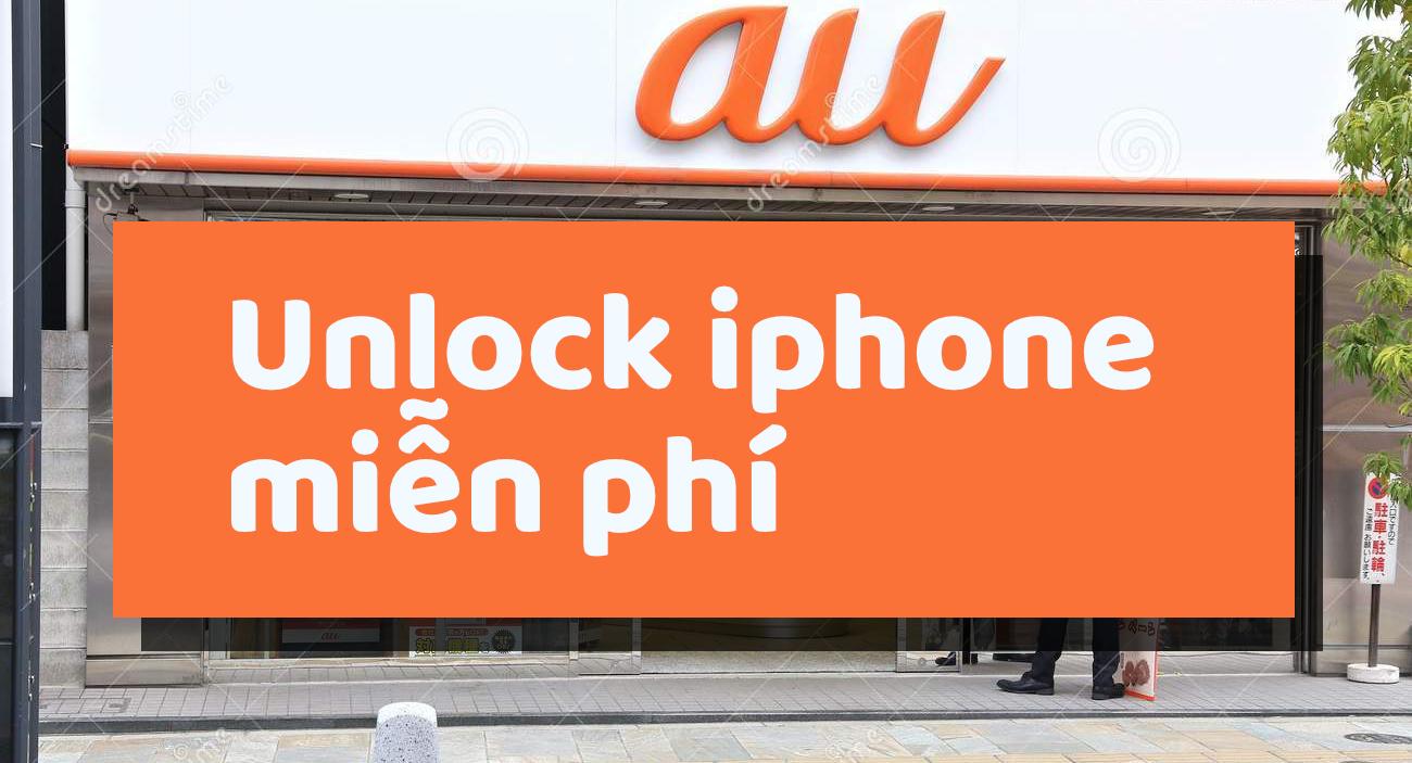 Cách unlock iphone lock AU lên quốc tế miễn phí