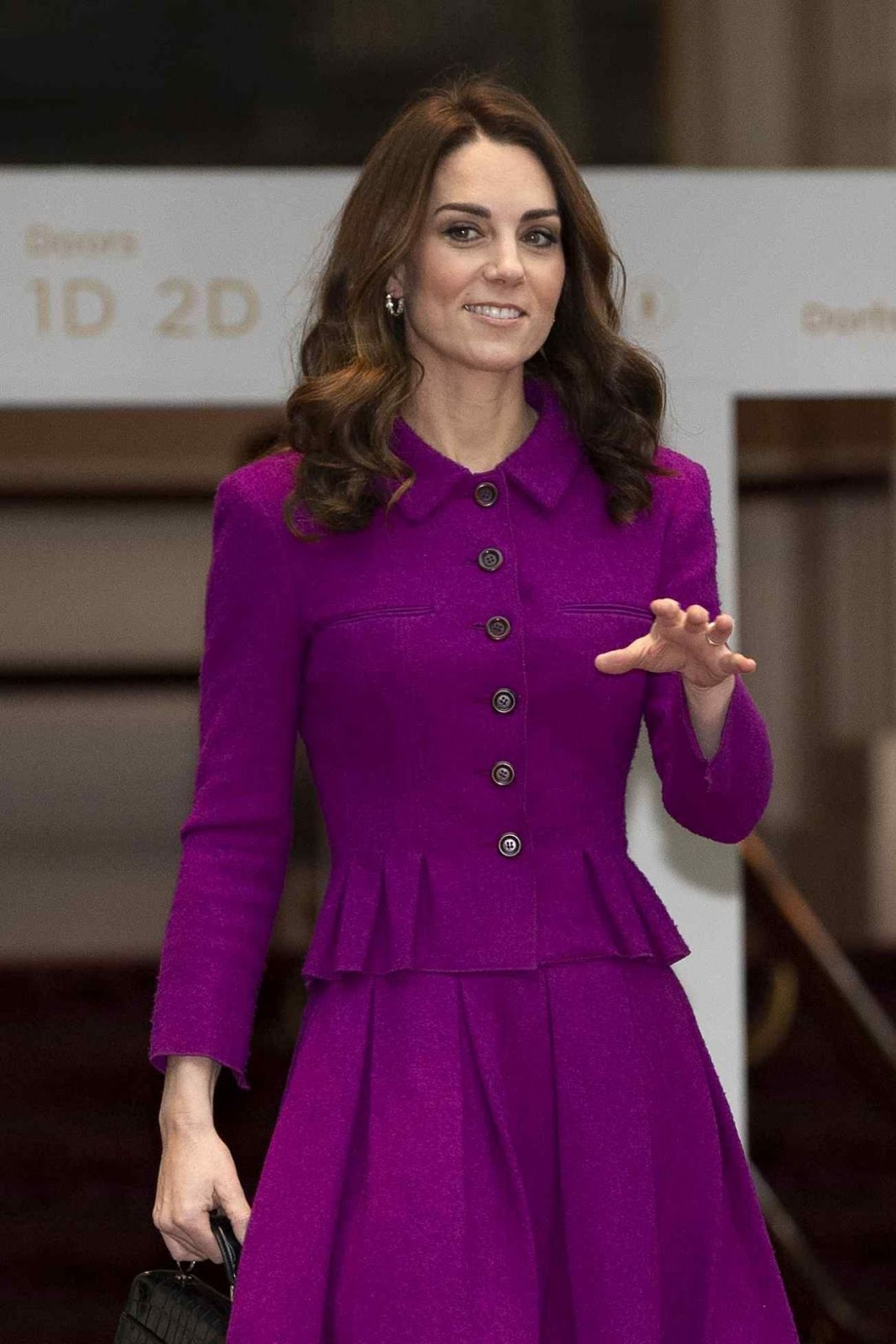 Kate Middleton In Purple Dress At Royal Opera House In