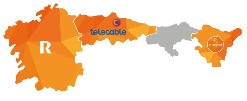 R, Telecable y Euskaltel