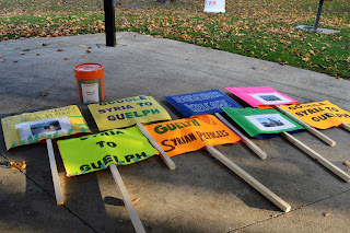 Syria to Guelph Solidarity Walk for refugees signs blog