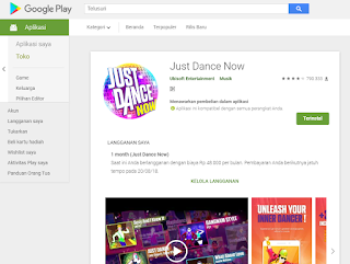 Just Dance Now di Google Playstore
