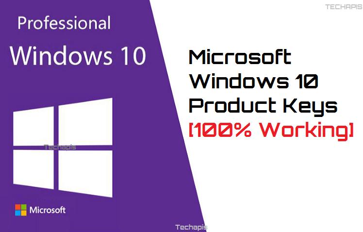 Microsoft Windows 10 Product Keys