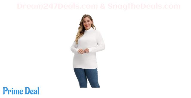 55% off Plus Size Women Basic Turtleneck Tops