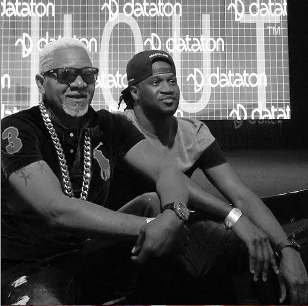 Awilo Longomba with Nigerian singer P-square