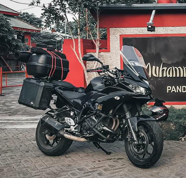 Apik ! Yamaha R25 Dimodif Aliran Adventure