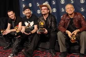 list of U2's Grammy Ward winning songs