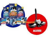Logo Concorso ''Facce da Felix 2'' vinci gratis forniture di prodotti e ciotole Alessi Tigrito
