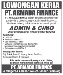 PT ARMADA FINANCE