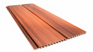 Techos PVC textura madera acanalada
