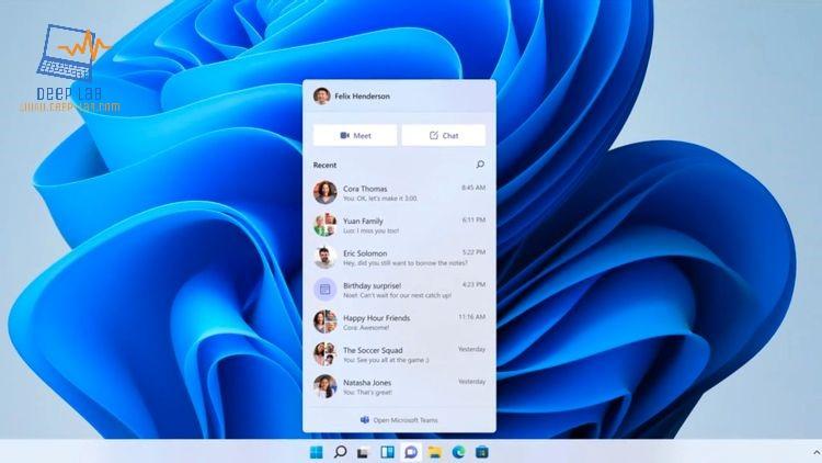 يدمج Windows 11 Microsoft Teams