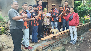 PAC Pemuda Pancasila Warunggunung,Salurkan Bantuan Ke Korban Bencana Alam DiCibuah
