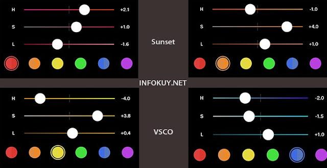 Settingan Rumus VSCO Sunset #2