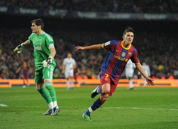 1921757067 Villa comemora diante de um Casillas perplexo um de seus dois gols em seu  primeiro superclássico  a manita do Barcelona ante o Real Madrid foi o  melhor jogo ...