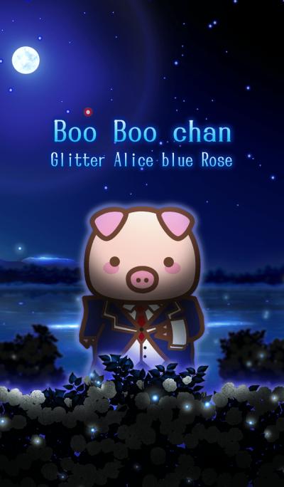 Boo Boo chan Glitter Alice blue Rose