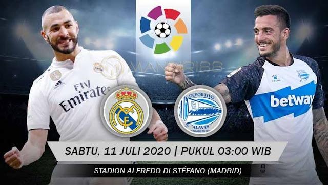 Prediksi Real Madrid Vs Alaves, Sabtu 11 Juli 2020 Pukul 03.00 WIB