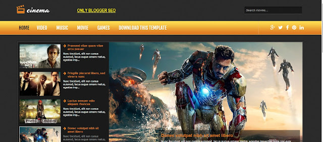 Cinema Responsive Blogger Template free download